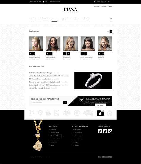 themeforest jewellery diana e commerce html template by themeplayers themeforest