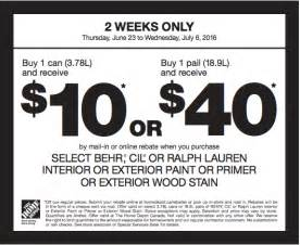 coupons for home depot the home depot canada paint coupons save 10 or 40 by