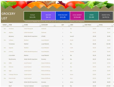 microsoft grocery list template grocery list office templates