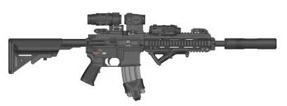 The Ghost Writer Hk416 Mod By Ghost17xd On Deviantart