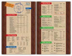 myles pizza pub menu the copy shop inc