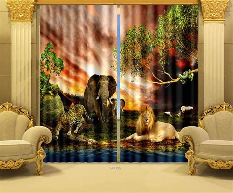 3d curtains shop popular animal print curtains from china aliexpress
