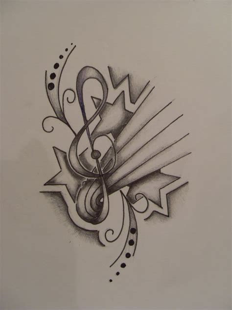 music star tattoo designs note designs www imgkid the image kid