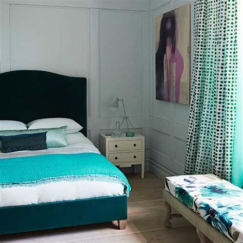 textural teal bedroom decorating with teal and green - Green And Teal Bedroom