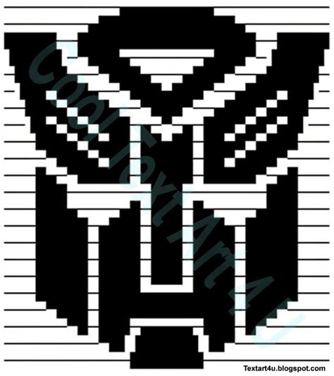 Autobot symbol copy paste ascii art cool ascii text art 4 u