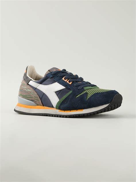lyst diadora lace  retro sneakers  green  men