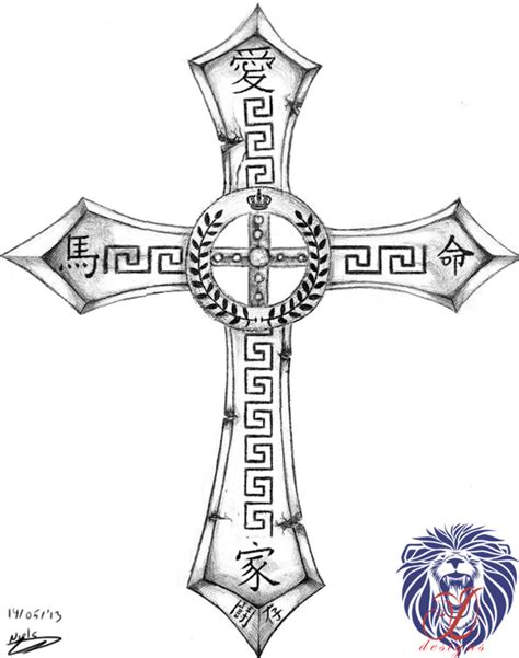 roman cross tattoo design by ddesigns0 on deviantart