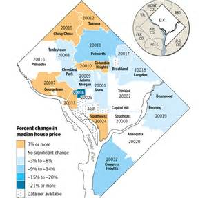Zip Code Map Dc housing review 2009 district of columbia property values