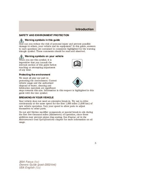download car manuals pdf free 2004 ford focus head up display 2004 ford focus owners manual wiring library