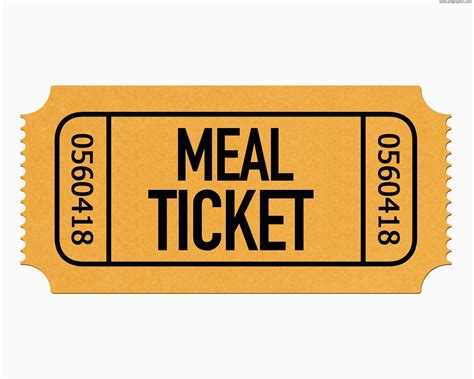 Lunch Ticket Template by Meal Ticket Template Clipart Best