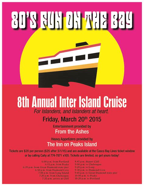 casco bay lines boat schedule 8th annual inter island cruise casco bay lines