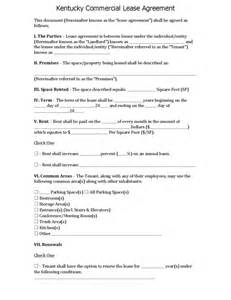 Commercial Rental Contract Template by Kentucky Commercial Lease Agreement Legalforms Org