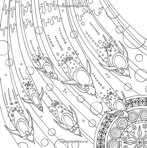 advanced ocean coloring pages 929 best images about adult colouring under the sea