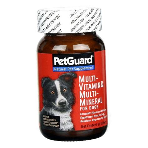 mineral for dogs petguard multi vitamin and minerals for dogs 50 tablets evitamins