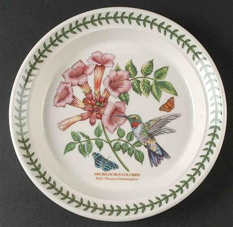 Botanical Gardens Dishes Portmeirion Botanic Garden Birds Ruby Hummingbird Salad Plate 10002925 Portmeirion