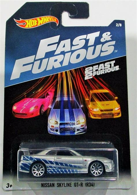 Decal 2 Fast 2 Furious For Hotwheels R34 wheels 2017 fast and furious nissan skyline gt r r34 silver blue 2 fast ebay
