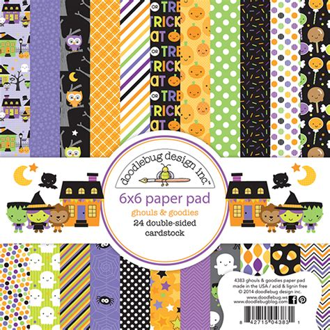 doodlebug ghouls and goodies doodlebug design ghouls and goodies 6 x 6 paper pad