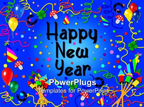 template powerpoint happy new year powerpoint template party scene with a happy new year
