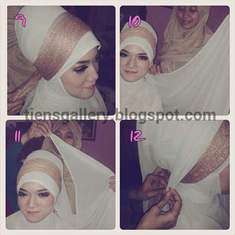 tutorial hijab syar i untuk kebaya cara memakai jilbab pengantin syar i cara memakai jilbab