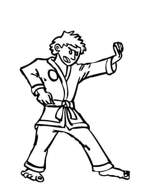 coloring page karate karate demonstration coloring pages batch coloring