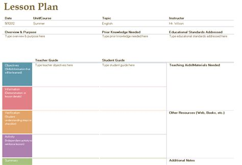 acquisition lesson plan template lfs images
