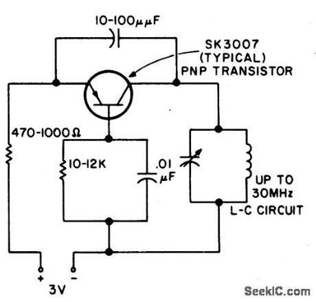 npn transistor oscillator index 40 oscillator circuit signal processing circuit diagram seekic