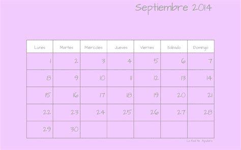 calendario para escritorio windows 7 fondo de escritorio calendario septiembre 2014 la te