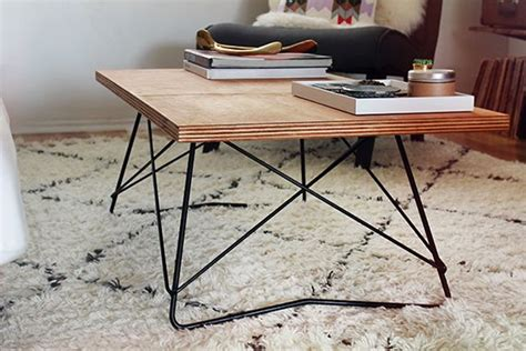 diy metal base coffee table for the home
