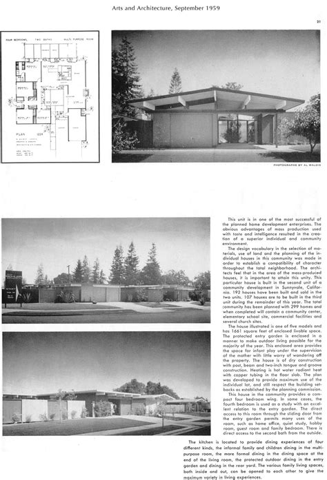 home design articles eichler magazine article arts architecture sep 1959