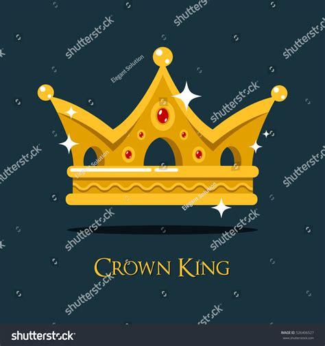 Blink Crown blinking shiny king golden crown crest stock vector