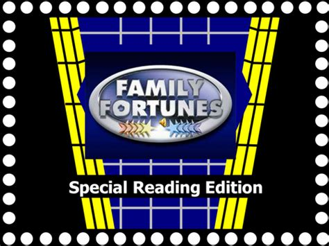 Reading Assembly Family Fortunes By Lveetee Teaching Family Fortunes Powerpoint