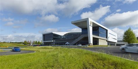 porsche headquarters hok porsche cars america experience center and