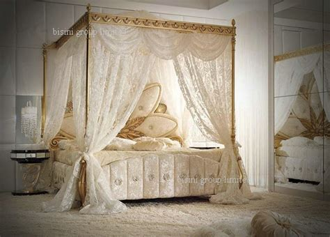 italian canopy bed italian royal wooden bedroom furniture luxury upholstered canopy bed with night stands classical