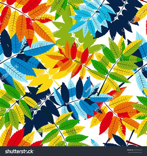 multicolor pattern leaves vector autumn leaves seamless pattern multicolor stock
