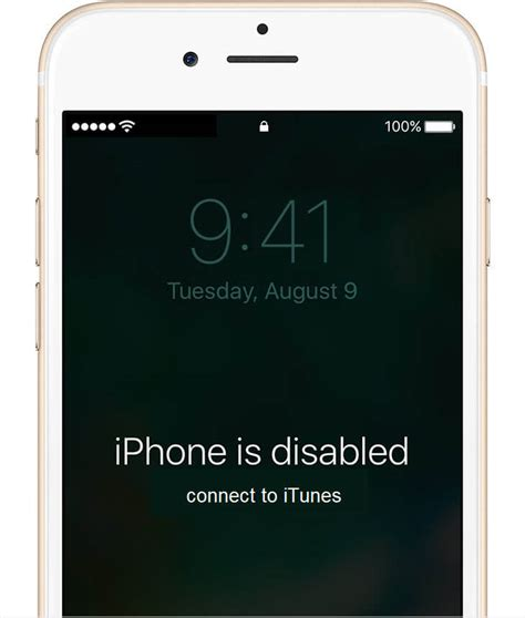 fix iphone  disabled connect  itunes  iphone