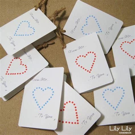 Handcrafted Gift Tags - buy set of 8 gift tags by handmade folksy