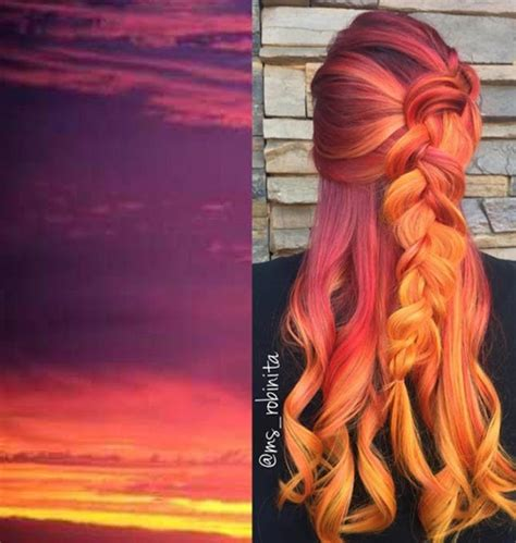 sunset hair color this hair color trend will make you the weather