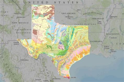 geology of texas map interactive map of the surface geology of texas american geosciences institute