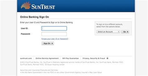 suntrust bank banking sign up manager