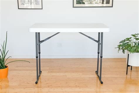 lifetime 80160 commercial height adjustable folding utility table the best folding tables reviews by wirecutter a