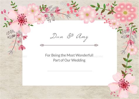 thank you card illustrator template pink floral thank you card design template in psd word