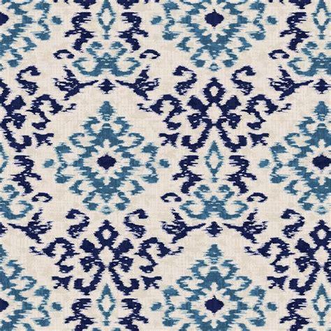 ikat pattern fabric navy and denim ikat damask fabric by the yard navy