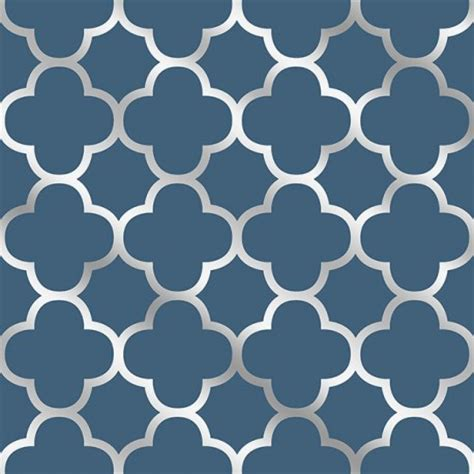 navy blue wallpaper uk buy origin navy blue silver trellis 2625 21855 wallpaper