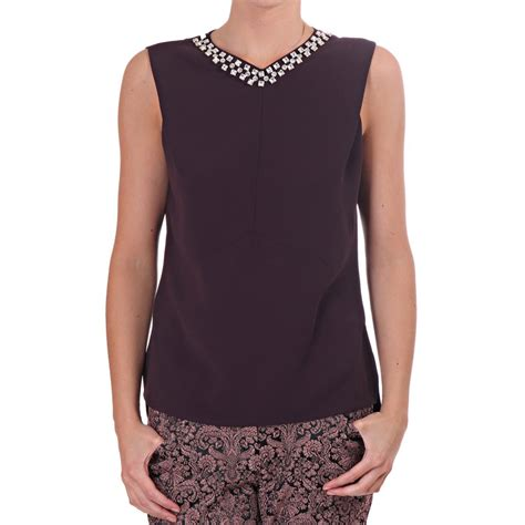 womens beaded tops ted baker womens ted baker womens maieli beaded fitted top