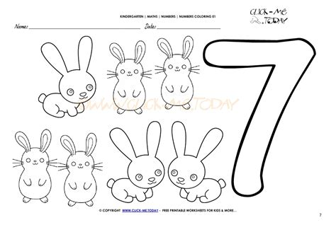 coloring pages for the number 7 number coloring pages number 7