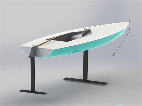 hydrofoil catamaran rc hydrofoil laser sailboat v2 3d cad model library grabcad