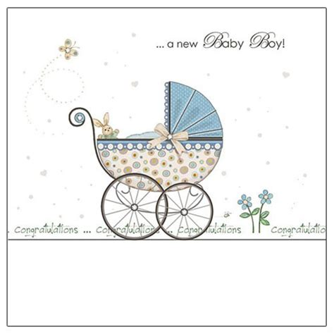 Congratulations On Your New Baby Card Templates by A New Baby Boy Congratulations Greeting Card