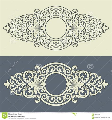 pattern is any decorative motif or design vector vintage decorative frame pattern design stock