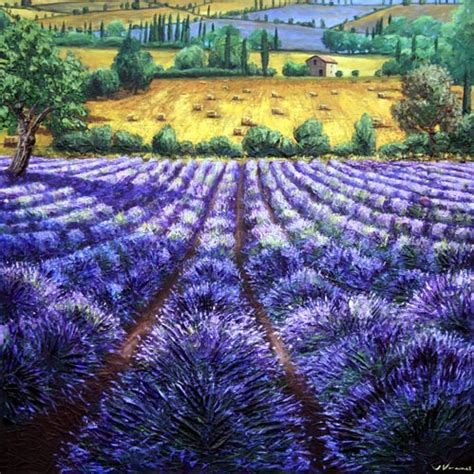 lavendar paint lavender 48x48 lavender field painting contemporary lavender fields from