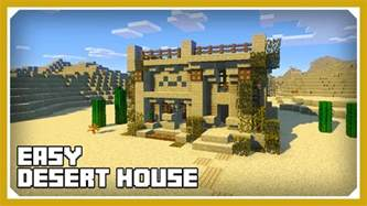 how to build a house minecraft how to build a desert house tutorial easy